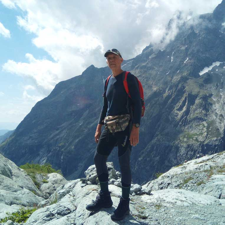 jānis trops par mani uz ledaju blanc francijas alpos hautes-alpes glacier blanc massif des ecrins