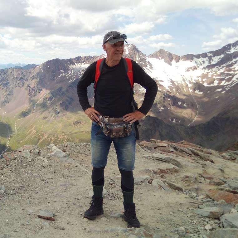 jānis trops par mani uz virsotni grawand itālijas alpos otztal alps